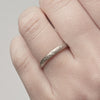 Half Round Textured Wedding Band - 2.5mm