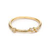 Small Asymmetrical Diamond Encrusted Band from Ruth Tomlinson, handmade in London
