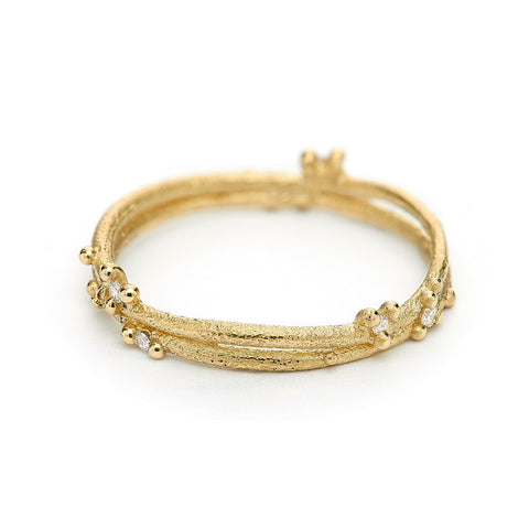 Diamond Encrusted Wrap Band from Ruth Tomlinson, handmade in London