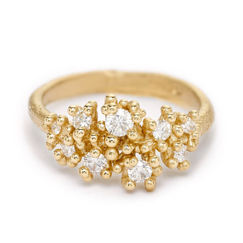 Alternative diamond engagement ring from Ruth Tomlinson, handmade in London