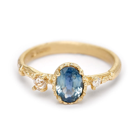 Sapphire and diamond engagement ring from Ruth Tomlinson