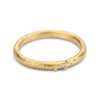 Ladies yellow gold wedding band with diamond detail from Ruth Tomlinson
