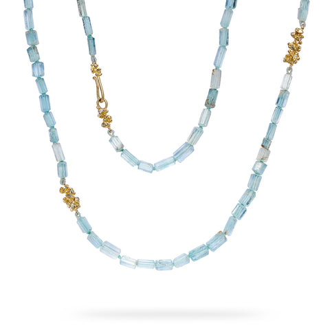 Aquamarine strand from Ruth Tomlinson, handmade in London