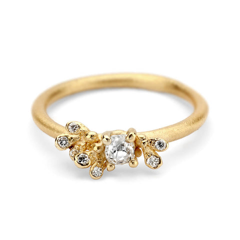 Old cut diamond engagement ring from Ruth Tomlinson, handmade in London