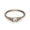 Old cut solitiare diamond engagement ring in white gold from Ruth Tomlinson
