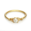 Old cut diamond solitaire ring from Ruth Tomlinson, handmade in London