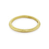 Slim yellow gold ladies' wedding band by Ruth Tomlinson, handmade in London