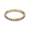 Champagne diamond eternity band in 14ct yellow gold, handmade in London