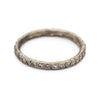 Eternity band wedding ring in white gold set with white diamonds from Ruth Tomlinson