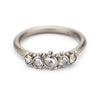 Vintage style rose cut diamond engagement ring by Ruth Tomlinson, handmade in London