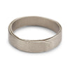 Textured white gold men's wedding band by Ruth Tomlinson, handmade in London
