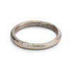 Textured white gold ladies wedding band by Ruth Tomlinson, handmade in London