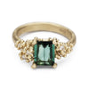 Tourmaline and champagne diamond cocktail ring from Ruth Tomlinson