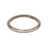 Slim white gold ladies' wedding band by Ruth Tomlinson, handmade in London