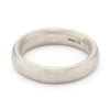 6mm textured white gold men's wedding band by Ruth Tomlinson, handmade in London