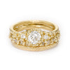 Antique diamond ring stack from Ruth Tomlinson, handmade in London