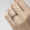 White gold wedding band and eternity band set from Ruth Tomlinson, made in London