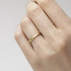 Textured yellow gold ladies wedding band from Ruth Tomlinson, made in London