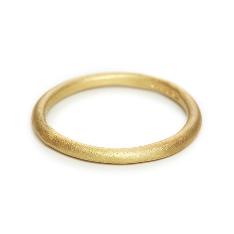 Ladies' thin wedding band with matte finish from Ruth Tomlinson
