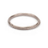 White gold ladies wedding band with detailed edge from Ruth Tomlinson