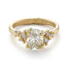 Yellow and grey diamond alternative engagement ring from Ruth Tomlinson, handmade in London