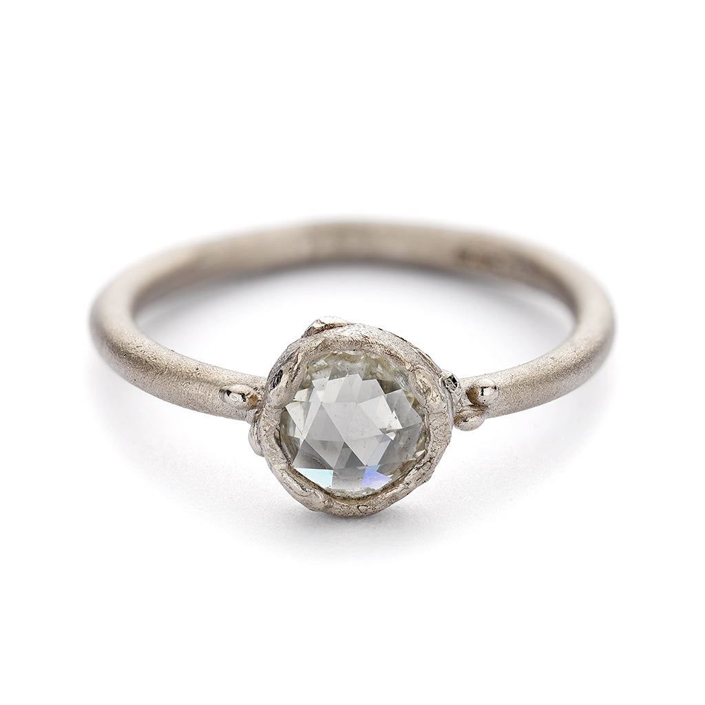 Solitaire diamond engagement ring from Ruth Tomlinson, handmade in London
