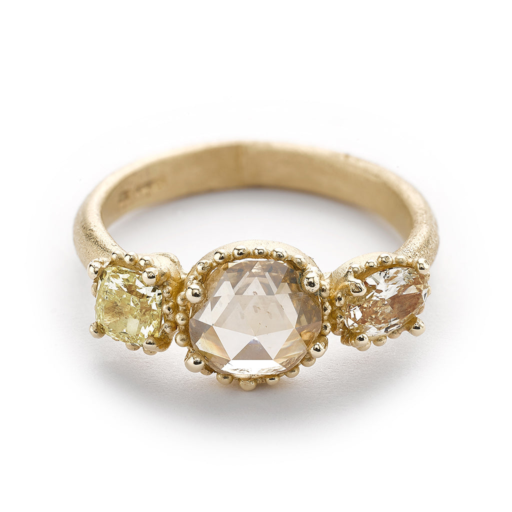 Rose cut diamond engagement ring from Ruth Tomlinson, handmade in London