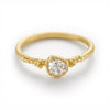 Solitaire old cut diamond ring from Ruth Tomlinson, handmade in London