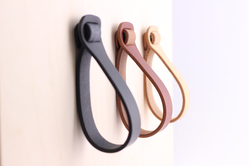 Loop Leather Cabinetry Handles