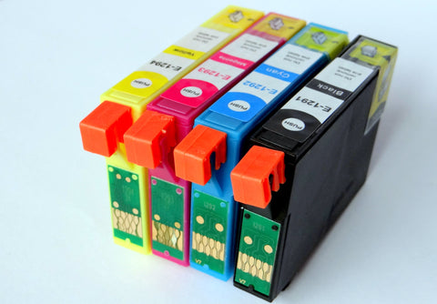 1 FULL SET Compatible EPSON T1295XL (Replaces Epson T1295 Apple Cartridges)
