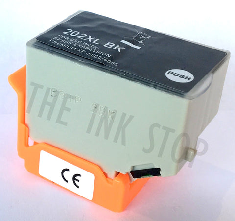 Compatible Epson Black 202XL High Capacity Ink Cartridges (Replaces Epson T02E1 Kiwi Cartridge)