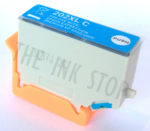 Compatible Epson Cyan 202XL High Capacity Ink Cartridges (Replaces Epson T02H2 Kiwi Cartridge)