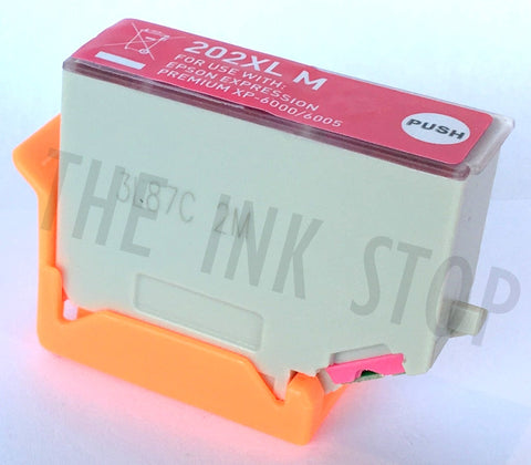 Compatible Epson Magenta 202XL High Capacity Ink Cartridges (Replaces Epson T02F3 Kiwi Cartridge)