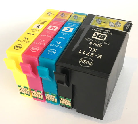 1 FULL SET Compatible EPSON T2711XXL + T2712/3/4XL Balck&Colour HIGH CAPACITY Ink Cartridges (Replaces Epson T2791 & T2715 Alarm Clock )