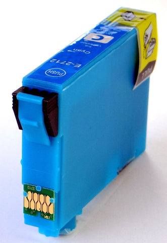 Compatible EPSON T2712XL CYAN HIGH CAPACITY Ink Cartridge (CHIPPED + INK LEVEL)