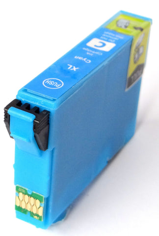 Compatible Epson Cyan 34XL High Capacity Ink Cartridges (Replaces Epson T3472 Golf Ball Cartridge)
