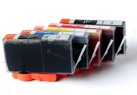 1 FULL SET Compatible HP 364XL BK/C/M/Y+ PHOTO BLACK XL Ink Cartridges (CHIPPED+INK LEVEL)