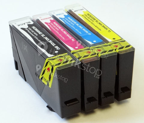 1 FULL SET Compatible HP 364XL BK/C/M/Y HIGH CAPACITY Ink Cartridge (CHIPPED+INK LEVEL)