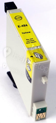 Compatible EPSON T0484 YELLOW Ink Cartridge (CHIPPED + INK LEVEL)