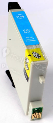 Compatible EPSON T0805 LIGHT CYAN Ink Cartridge (CHIPPED + INK LEVEL)