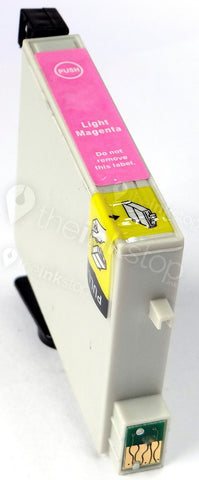Compatible EPSON T0806 LIGHT MAGENTA Ink Cartridge (CHIPPED + INK LEVEL)