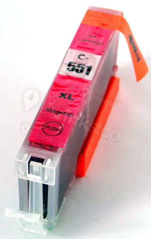 Compatible CANON CLI-551M XL MAGENTA Ink Cartridge (CHIPPED+INK LEVEL)