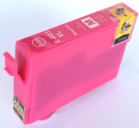 Compatible Epson High Capacity Magenta 603XL Ink Cartridge (Chipped + Ink Level)