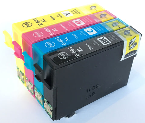 1 Full Set Compatible Epson High Capacity 603XL Ink Cartridge (Chipped + Ink Level)