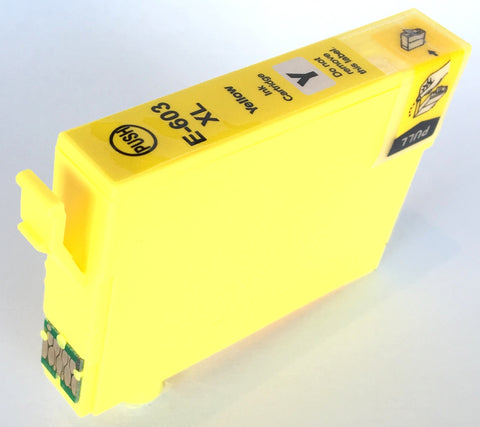 Compatible Epson High Capacity Yellow 603XL Ink Cartridge (Chipped + Ink Level)