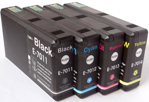 1 FULL SET Compatible EPSON T7011/12/13/14 XXL HIGH CAPACITY Ink Cartridges