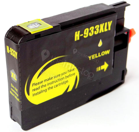 Compatible HP 933 XL YELLOW HIGH CAPACITY Ink Cartridge (CHIPPED+INK LEVEL)