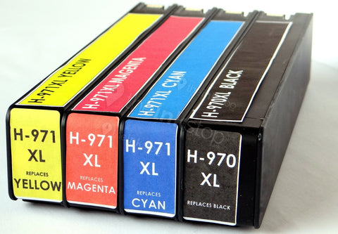 1 FULL SET Compatible HP 970XL/971XL BLACK/CYAN/MAGENTA/YELLOW Ink Cartridges