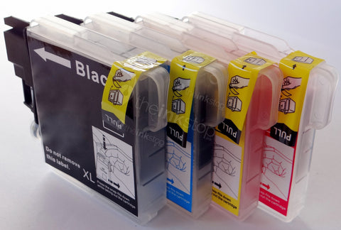 1 FULL SET Compatible BROTHER LC980 BLACK, CYAN, MAGENTA, YELLOW  Ink Cartridges