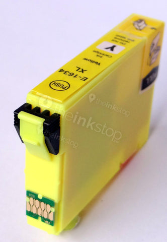 Compatible EPSON T1634XL YELLOW HIGH CAPACITY Ink Cartridge (CHIPPED + INK LEVEL)